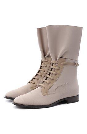 Женские текстильные ботинки GIORGIO ARMANI светло-бежевого цвета, арт. X1N141/XD301   Фото 1