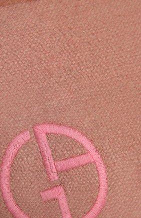 Женский кашемировый шарф GIORGIO ARMANI светло-розового цвета, арт. 795217/1A148 | Фото 2