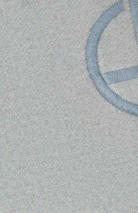 Женский кашемировый шарф GIORGIO ARMANI голубого цвета, арт. 795217/1A148 | Фото 2