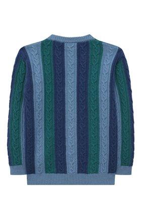 Детский кашемировый пуловер LORO PIANA разноцветного цвета, арт. FAL7443 | Фото 2 (Материал внешний: Кашемир, Шерсть; Рукава: Длинные; Мальчики Кросс-КТ: Пуловер-одежда; Ростовка одежда: 10 - 11 лет | 140 - 146см, 12 лет | 152 см, 18 мес | 86 см, 4 года | 104 см, 6 лет | 116 см, 8 лет | 128 см)