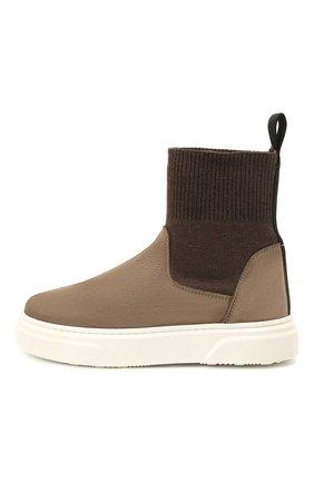 Детские кожаные ботинки MONTELPARE TRADITION коричневого цвета, арт. MT18301/M0RBID0NE/T0MAIA/M0NT0NE/36-41 | Фото 2