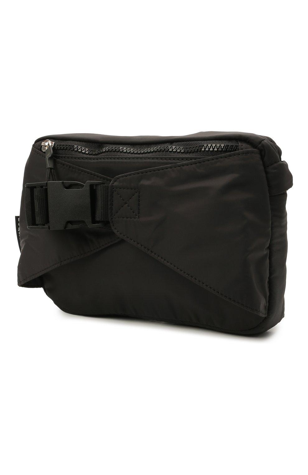 Детская поясная сумка DSQUARED2 черного цвета, арт. DQ0322-D006N   Фото 2 (Материал: Текстиль)