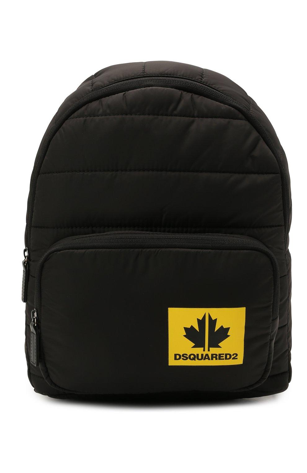Детская рюкзак DSQUARED2 черного цвета, арт. DQ0321-D006N   Фото 1 (Материал: Текстиль)