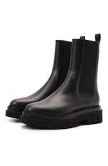 Женские кожаные ботинки SANTONI черного цвета, арт. WTEI59524G0MNUDYN01 | Фото 1 (Подошва: Платформа; Каблук высота: Низкий; Материал внутренний: Натуральная кожа; Женское Кросс-КТ: Челси-ботинки)