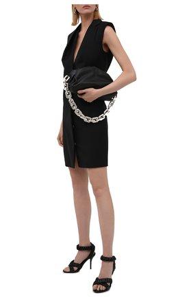 Женские кожаные босоножки BURBERRY черного цвета, арт. 8041976 | Фото 2