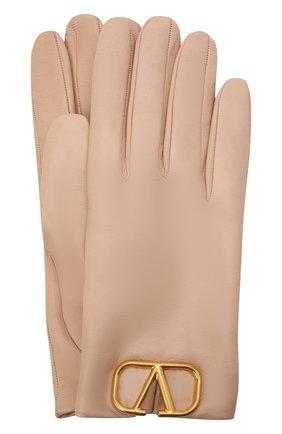 Женские кожаные перчатки VALENTINO бежевого цвета, арт. WW2GDA00/WJW | Фото 1