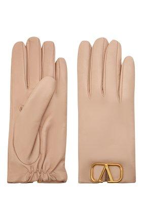 Женские кожаные перчатки VALENTINO бежевого цвета, арт. WW2GDA00/WJW | Фото 2