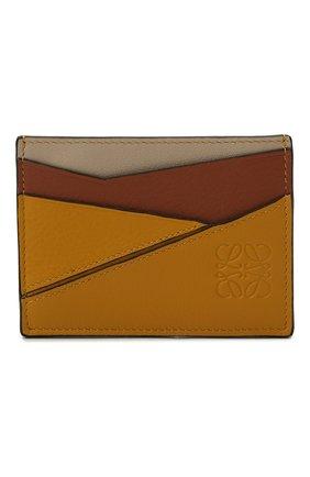 Женский кожаный футляр для кредитных карт LOEWE желтого цвета, арт. C510V33X03 | Фото 1