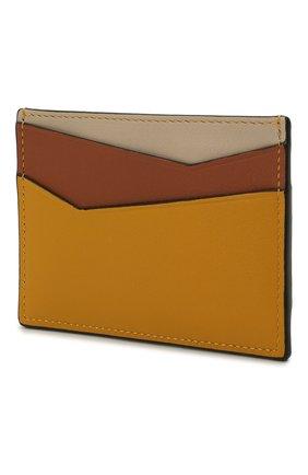 Женский кожаный футляр для кредитных карт LOEWE желтого цвета, арт. C510V33X03 | Фото 2
