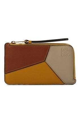 Женский кожаный футляр для кредитных карт LOEWE желтого цвета, арт. C510R50X03 | Фото 1
