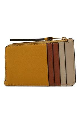 Женский кожаный футляр для кредитных карт LOEWE желтого цвета, арт. C510R50X03 | Фото 2