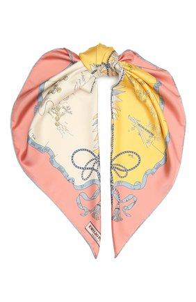 Женский шелковый платок EMILIO PUCCI розового цвета, арт. 1RGB12/1RH12 | Фото 1