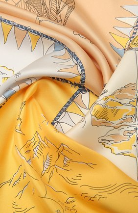 Женский шелковый платок EMILIO PUCCI розового цвета, арт. 1RGB12/1RH12 | Фото 2