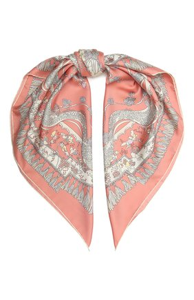 Женский шелковый платок EMILIO PUCCI розового цвета, арт. 1RGB22/1RR22 | Фото 1