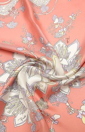 Женский шелковый платок EMILIO PUCCI розового цвета, арт. 1RGB22/1RR22 | Фото 2