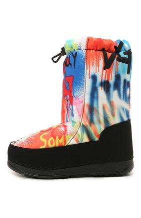 Детские утепленные сапоги DOLCE & GABBANA разноцветного цвета, арт. DA0672/AM121/29-36   Фото 2 (Материал внутренний: Текстиль; Материал внешний: Текстиль)