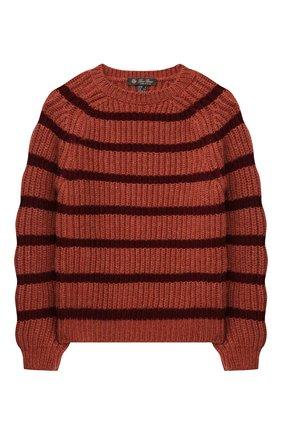 Детский кашемировый свитер LORO PIANA бордового цвета, арт. FAL7510 | Фото 1 (Материал внешний: Кашемир, Шерсть; Рукава: Длинные; Мальчики Кросс-КТ: Пуловер-одежда; Ростовка одежда: 10 - 11 лет | 140 - 146см, 12 лет | 152 см, 4 года | 104 см, 6 лет | 116 см, 8 лет | 128 см)