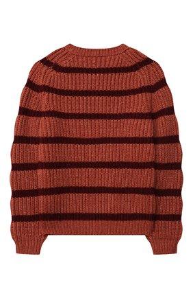 Детский кашемировый свитер LORO PIANA бордового цвета, арт. FAL7510 | Фото 2 (Материал внешний: Кашемир, Шерсть; Рукава: Длинные; Мальчики Кросс-КТ: Пуловер-одежда; Ростовка одежда: 10 - 11 лет | 140 - 146см, 12 лет | 152 см, 4 года | 104 см, 6 лет | 116 см, 8 лет | 128 см)