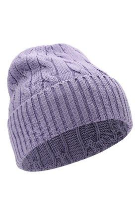 Женская хлопковая шапка POLO RALPH LAUREN сиреневого цвета, арт. 455849474 | Фото 1