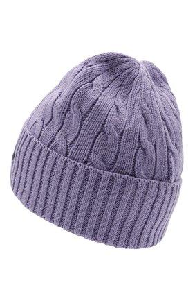 Женская хлопковая шапка POLO RALPH LAUREN сиреневого цвета, арт. 455849474 | Фото 2