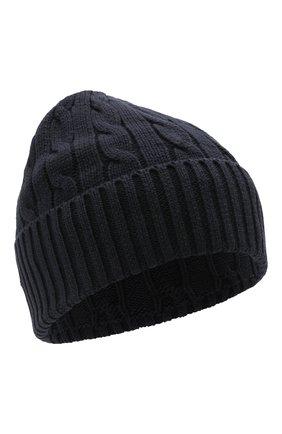 Женская хлопковая шапка POLO RALPH LAUREN синего цвета, арт. 455849474 | Фото 1