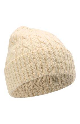 Женская хлопковая шапка POLO RALPH LAUREN кремвого цвета, арт. 455849474 | Фото 1