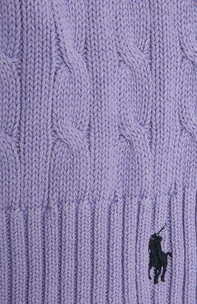 Женский хлопковый шарф POLO RALPH LAUREN сиреневого цвета, арт. 455849473 | Фото 2
