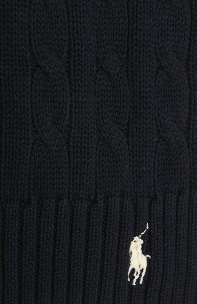 Женский хлопковый шарф POLO RALPH LAUREN синего цвета, арт. 455849473 | Фото 2