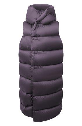 Женский пуховый жилет RICK OWENS фиолетового цвета, арт. RP02A7914/NZD3   Фото 1 (Материал внешний: Синтетический материал; Материал подклада: Синтетический материал; Материал утеплителя: Пух и перо; Стили: Минимализм; Женское Кросс-КТ: Жилет-одежда; Длина (верхняя одежда): До колена)