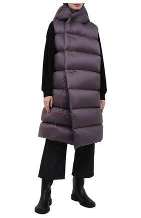 Женский пуховый жилет RICK OWENS фиолетового цвета, арт. RP02A7914/NZD3   Фото 2