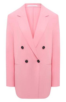 Женский двубортный жакет BOSS розового цвета, арт. 50453632 | Фото 1