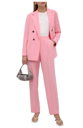 Женский двубортный жакет BOSS розового цвета, арт. 50453632 | Фото 2
