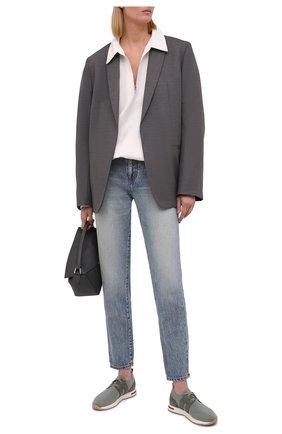 Женские текстильные кроссовки 360 lp walk LORO PIANA мятного цвета, арт. FAI7759 | Фото 2 (Материал внешний: Текстиль; Материал внутренний: Текстиль, Натуральная кожа; Подошва: Платформа)