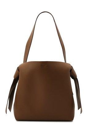 Женская сумка musubi medium ACNE STUDIOS коричневого цвета, арт. A10100 | Фото 1 (Размер: medium; Материал: Натуральная кожа; Сумки-технические: Сумки top-handle)