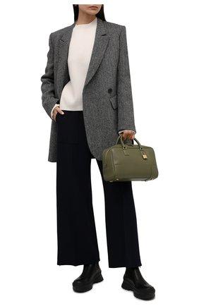 Женские комбинированные ботинки JIL SANDER черного цвета, арт. JP37002A-14510 | Фото 2 (Подошва: Платформа; Материал внутренний: Натуральная кожа; Каблук высота: Средний; Женское Кросс-КТ: Без шнуровки-ботинки)