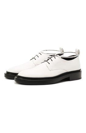 Женская кожаные туфли JIL SANDER белого цвета, арт. JS35028A-14021 | Фото 1 (Каблук высота: Низкий; Подошва: Платформа; Материал внутренний: Натуральная кожа)
