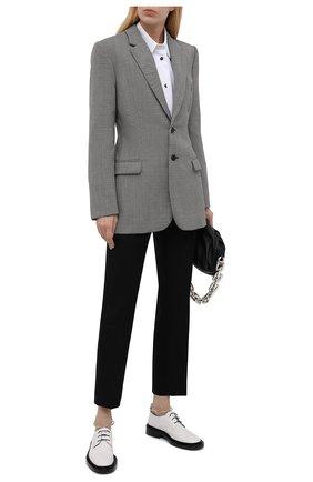 Женская кожаные туфли JIL SANDER белого цвета, арт. JS35028A-14021 | Фото 2 (Каблук высота: Низкий; Подошва: Платформа; Материал внутренний: Натуральная кожа)