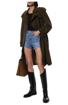 Женские кожаные сапоги JIL SANDER черного цвета, арт. JS35043A-14030   Фото 2 (Материал внутренний: Натуральная кожа; Высота голенища: Высокие; Каблук высота: Низкий; Подошва: Платформа; Каблук тип: Устойчивый)