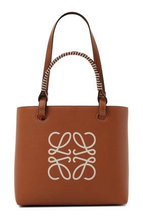 Женский сумка-тоут anagram LOEWE коричневого цвета, арт. A717S72X11 | Фото 1