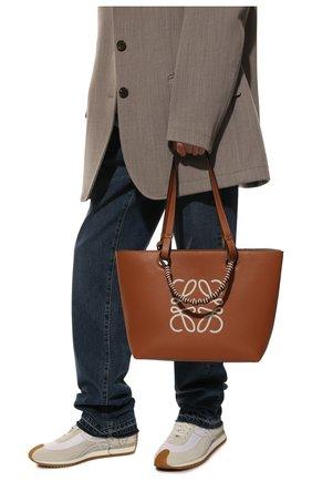 Женский сумка-тоут anagram LOEWE коричневого цвета, арт. A717S72X11 | Фото 2