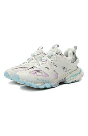 Женские комбинированные кроссовки track BALENCIAGA светло-серого цвета, арт. 542436/W3AC4 | Фото 1
