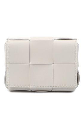 Женская сумка candy cassette BOTTEGA VENETA белого цвета, арт. 666688/VMAY1 | Фото 1 (Размер: mini; Ремень/цепочка: На ремешке; Материал: Натуральная кожа; Сумки-технические: Сумки через плечо)