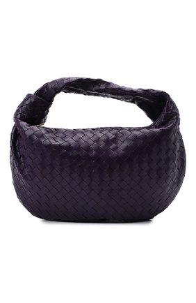 Женская сумка jodie small BOTTEGA VENETA фиолетового цвета, арт. 600261/VCPP0 | Фото 1 (Материал: Натуральная кожа; Сумки-технические: Сумки top-handle; Размер: small)