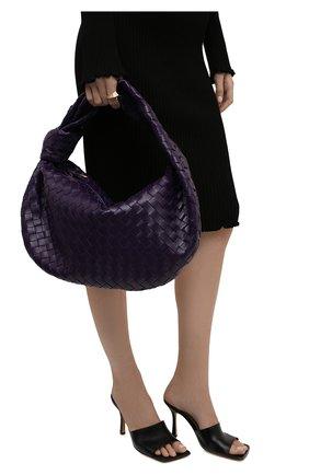 Женская сумка jodie small BOTTEGA VENETA фиолетового цвета, арт. 600261/VCPP0 | Фото 2 (Материал: Натуральная кожа; Сумки-технические: Сумки top-handle; Размер: small)