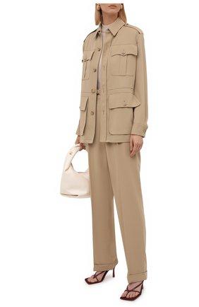 Женские шерстяные брюки RALPH LAUREN бежевого цвета, арт. 290840158 | Фото 2 (Материал внешний: Шерсть; Стили: Гламурный; Женское Кросс-КТ: Брюки-одежда; Длина (брюки, джинсы): Удлиненные; Силуэт Ж (брюки и джинсы): Прямые)