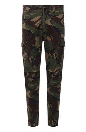 Мужские хлопковые брюки-карго POLO RALPH LAUREN хаки цвета, арт. 710835172 | Фото 1 (Материал внешний: Хлопок; Силуэт М (брюки): Карго; Случай: Повседневный; Стили: Милитари; Длина (брюки, джинсы): Стандартные)