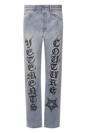 Мужские джинсы VETEMENTS голубого цвета, арт. MA52PA720B 2803 | Фото 1