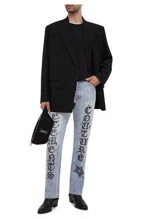Мужские джинсы VETEMENTS голубого цвета, арт. MA52PA720B 2803 | Фото 2