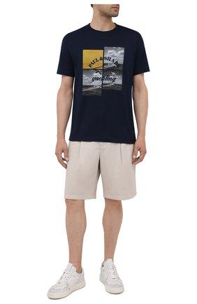 Мужская хлопковая футболка PAUL&SHARK темно-синего цвета, арт. 11311623/C00 | Фото 2