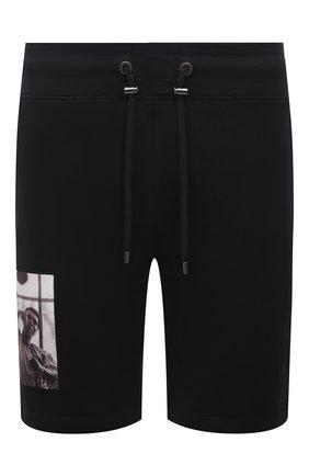 Мужские хлопковые шорты LIMITATO черного цвета, арт. HIT/SH0RT | Фото 1 (Материал внешний: Хлопок; Длина Шорты М: До колена; Кросс-КТ: Трикотаж; Принт: С принтом; Стили: Спорт-шик)